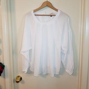 White chiffon Universal Thread large top